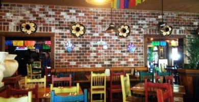 Decoración de un restaurante mexicano